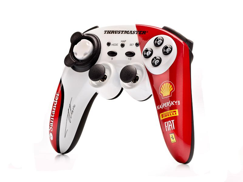 PS 3 Джойстик беспроводной Thrustmaster F1 Wireless Gamepad F150 Alonso Edition (PS3/PC) (2960731)