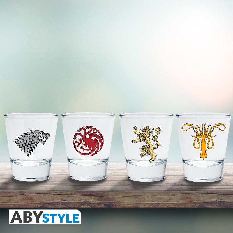 Рюмка ABYstyle: Game of Thrones: Emblem набор 4шт.  ABYVER085