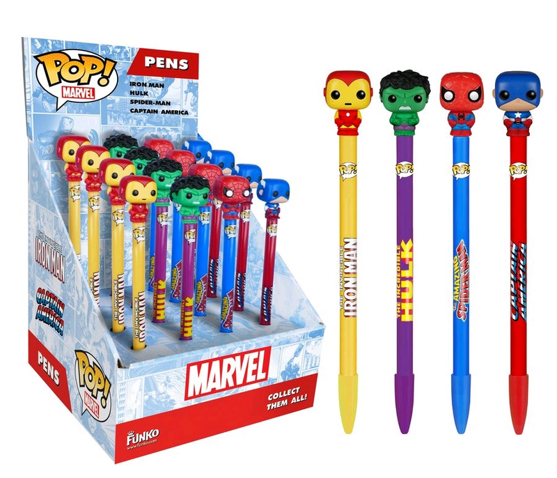 Ручка Funko POP! Pen Toppers: Marvel: Assorted 16pc PDQ (1шт.) 7458