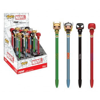 Ручка Funko POP! Pen Toppers: Marvel 2: Assorted 16pc PDQ (1шт.) 10999