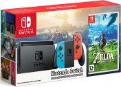 Комплект Nintendo Switch (красный/синий) + игра карThe Legend of Zelda:Breath of the Wild
