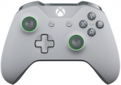 XboxOne Геймпад беспроводной NEW 3.5mm XboxOne Wireless Gamepad (WL3-00061) Grey/Green+Bluetooth