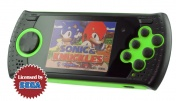 "SEGA Genesis Gopher Wireless LCD 2.8"", ИК-порт + 370 игр + SD карта (зелёный)"