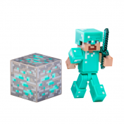Фигурка Minecraft Population Steve w/Diamond Armor w/Accessory  16504
