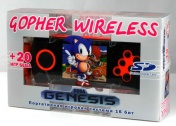 "SEGA Genesis Gopher Wireless LCD 2.8"", ИК-порт  +20 игр (оранжевая) + картра SD 2Гб"