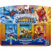 Skylanders Giants. Боевой набор: Zap, Hot Dog, Capapult