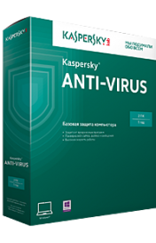 Kaspersky Anti-Virus 2015 Russian Edition. 2-Desktop 1 year Base Box