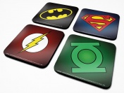 Подставки под напитки Pyramid: DC: DC Originals (Symbols) 4 Coaster Set  CSP0010