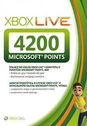 Xbox 360  Live Points (4200 Points)