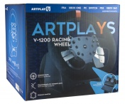Руль Artplays V-1200 для PS4, PC, Xbox One, Switch. Premium Leather Edition