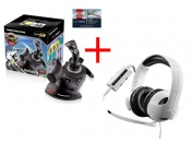 Набор Thrustmaster: Джойст T-Flight Hotas X, PS3/PC,Warthunder pack+Игр гарY300CPX Gaming HeadsetPS4