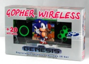 "SEGA Genesis Gopher Wireless LCD 2.8"", ИК-порт  +20 игр (зелёная) + карта SD 2Гб"