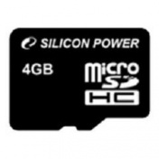 SD Micro Карта памяти  4GB HC (SP004GBSTH004V10 - Silicon Power)
