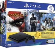 PlayStation 4 500 Gb Slim (CUH-2108A) +HZD+GOW3+UC4+PSN 3мес
