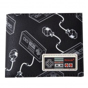 Кошелек Difuzed: Nintendo: NES Controller AOP Bifold Wallet With Rubber Patch MW663550NTN