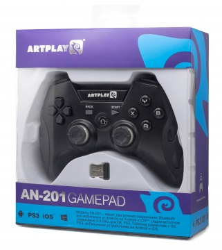 PC беспроводной геймпад Artplays Bluetooth/радио 2,4GHz PC, PS3, Android, iCade (AN-201)