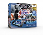 Playstation PS Vita 2008 Wi-Fi+8GB memory card+Action Mega Pack 5 промокодов+ сумка Carbon черная